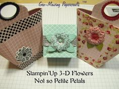 ▶ Stampin'Up 3-D Flowers Not so Petite Petals - YouTube