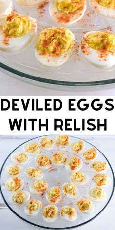 Jan 2020 - Classic Deviled Eggs With Relish - This easy southern deviled eggs recipe is made with pickle relish for a creamy and slightly tangy filling. Always one of the first party appetizers to go. Perfect for game day. Deviled Eggs With Relish, Pickled Deviled Eggs Recipe, Devilled Eggs Recipe Best, Best Deviled Eggs, Classic Deviled Eggs, Egg Salad Recipe With Relish, Healthy Deviled Eggs, Dill Recipes, Relish Recipes