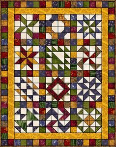 "Full online instructions for Scrap Sampler Quilt, 54"" x 69"" #pattern #sewing"