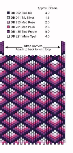 Free Seed Bead Loom Patterns | BingoAmulet Bag Pattern - Free Bead Pattern For This Cute