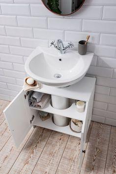 Noa and Nani Stow Undersink Cabinet in White   £39.99   #Bathroom #Furniture #HomeDecor