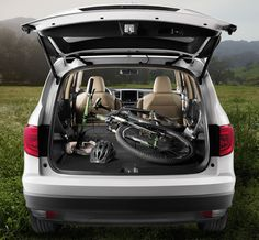 How do you transport your bike? With the new 2016 Honda Pilot, you can store your bike on the outside or the inside of the vehicle. However you roll, you're sure to find an adventure worth the drive.    Honda reminds you to secure cargo items. Crossbars and bike attachment accessories required.