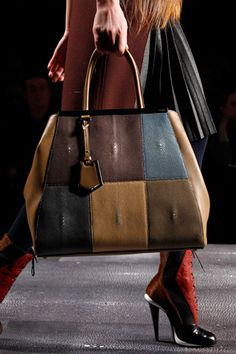 I love the earth tones and colorblocking by Fendi.