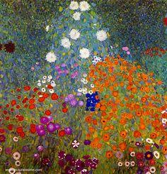 Gustav Klimt Jardin en fleur