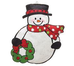 Enjoy the Holidays with this #burtonandburton Snowman Wall Hanger! #snowman #christmas