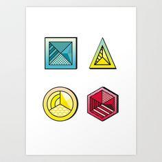 Geometric++Art+Print+by+Carlos+Ramas++-+$22.88