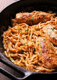 Spicy Chicken Lazone Pasta is a flavorful and easy chicken pasta dinner that comes together in only 30 minutes! Chicken Pasta Recipes, Beef Recipes, Cooking Recipes, Healthy Recipes, Cajun Recipes, Italian Dishes, Italian Recipes, Chicken Lazone, Supper Recipes