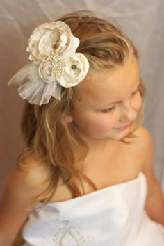 vintage inspired wedding flower hair piece by sunshowerflowers