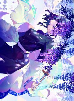 Shinobu Kochou from Kimetsu no Yaiba anime Manga Anime, Anime Art, Anime Boys, Demon Slayer, Slayer Anime, Anime Angel, Anime Demon, Anime Illustration, Demon Hunter
