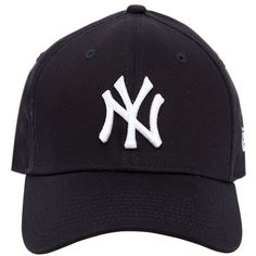 New Era Women 39thirty New York Yankees Mlb Hat ($34) ❤ liked on Polyvore featuring accessories, hats, navy, navy blue hat, yankees hat, new york yankees hat, navy hat and embroidered hats