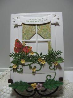 Birthday Window by kraftyaunt - Cards and Paper Crafts at Splitcoaststampers