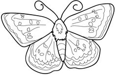 Butterfly Coloring Pages for Kids - Preschool and Kindergarten Free Printable Coloring Pages, Coloring Pages For Kids, Free Printables, Free Preschool, Toddler Preschool, Butterfly Coloring Page, Printable Animals, Fun Crafts For Kids, Minion
