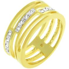 Link Ring    Price:  US$35.99    14k Gold Bonded Ring with 3 Pave CZ Journey Links in Goldtone    The Link Ring features 3 links of pave round cut CZ set in 14k gold bonded over a jewelers metal. Its great for all occasions. 14k Bonded Gold is achieved using an electroplating process that coats the item with heavy layers of 18k Yellow Gold and color-treated to a perfect 14k Hamilton gold color.