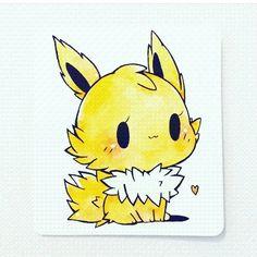 Yellow Pokemon Fan Art, Cute Pokemon, Pokemon Mignon, Cute Dragons, Kawaii Drawings, Kawaii Chibi, Pokemon Pictures, Pokemon Special, Beautiful Drawings