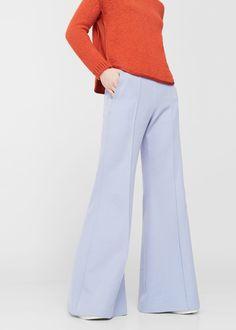 Pantalón flare algodón - Pantalones de Mujer | MANGO Costa Rica