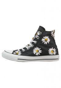 Converse - CHUCK TAYLOR ALL STAR - Sneaker high - black/citrus