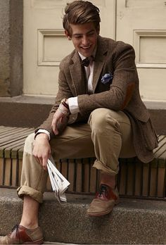 Marvelous blend of vintage inspired tweed, preppy fabrics and muted hues.