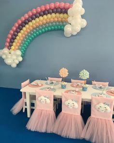 Inspiração linda para festa chuva de amor! por @brunatillifestas  #encontrodefestas #festachuvadeamor