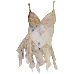 """For Sale on - Alexander McQueen S/S 2004 """"Deliverance"""" Tattered Chiffon Top. Piece is in near unworn looking condition with the only """"tattered"""" edges Pretty Outfits, Cool Outfits, Fashion Outfits, Stylish Outfits, Silk Chiffon, Chiffon Tops, Estilo Marilyn Monroe, Fairy Clothes, Fashion Killa"""