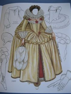 Bette Davis paper doll dress / papercollector.blogspot.com