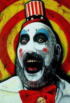 Sid Haigh from Rob Zombie movies Horror Posters, Horror Icons, Horror Art, Horror Films, Zombie Movies, Scary Movies, Rob Zombie Art, White Zombie, Work Pictures