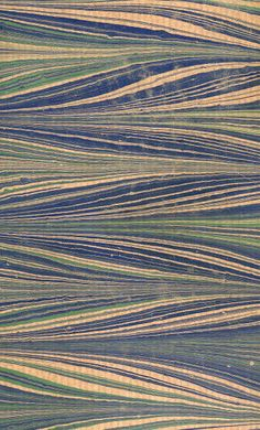 Modern 20th c. marbled papers, Feather pattern