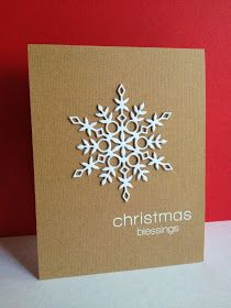 handmade card from I'm in Haven: Christmas Blessings … kraft card … clean an… – Christmas DIY Holiday Cards Simple Christmas Cards, Homemade Christmas Cards, Xmas Cards, Homemade Cards, Holiday Cards, Christmas Diy, Christmas Projects, Winter Cards, Cricut Christmas Cards