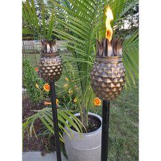 Starlite Garden & Patio Torche Pineapple Antique Tiki Torch   from hayneedle.com