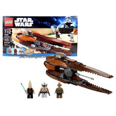 Lego Star Wars Series Set #7959 - GEONOSIAN STARFIGHTER w/ Torpedo Launcher Plus Ki-Adi-Mundi, Commander Cody & Geonosian Pilot Figure (Pieces: 155)