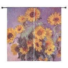 "Monet-Sunflowers 60"" Curtains"