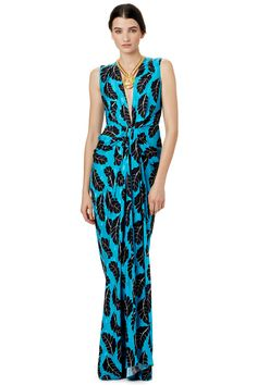 Thakoon Cascading Feathers Gown
