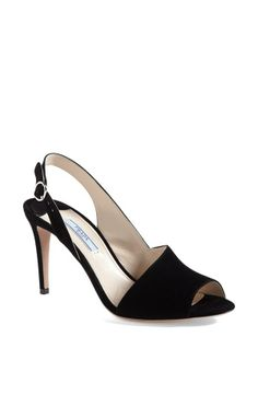 Prada Asymmetrical Sling Sandal