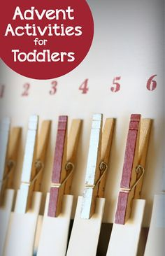 Simple Christmas Advent Activities for Toddlers