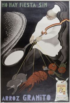 Anónimo. (S. XX)     No hay fiesta sin arroz Granito [Material gráfico]. — [S.l. : s.n., ca. 1925] (Valencia : Imp. y Lit. Ortega)    1 lám. (cartel) : col. ; 98 x 68 cm    Año de edición tomado de: La publicidad en 2000 carteles / Jordi y Arnau Carulla