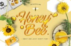 Honey Bee is a vibrant buzzing typeface which can be used to create swarms of new projects. This sweet and juicy script font includes additional swashes and extras to ensure your design work is always bee-autiful! Calligraphy Fonts, Script Fonts, New Fonts, Font Design, Design Typography, Graphic Design, Texture Web, Bee Free, Free Fonts Download