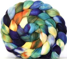 Hand dyed Merino/Silk blend Combed Top6 oz  by Allspunup on Etsy, $31.40