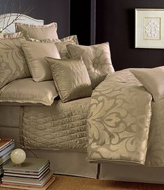 Love the shimmer Candice Olson Sweet Dreams Thistle Bedding Collection Linen Bedroom, Home Bedroom, Bedroom Decor, Master Bedrooms, Master Suite, Candice Olson Bedding, Beautiful Bedrooms, Luxury Bedding, Bed Sets