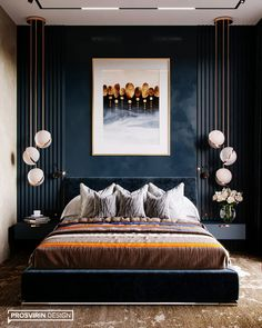 Here is the most trending bedroom interior design concept for this year. Master Bedroom Interior, Luxury Bedroom Design, Home Room Design, Bed Design, Home Decor Bedroom, Home Interior Design, Stylish Bedroom, Suites, Luxurious Bedrooms