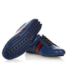 Vibrant But Edgy, Rugged & Overflowing In Luxury. - Gucci Shoes (M-07-Sc-28690) Men's Blue Sneakers