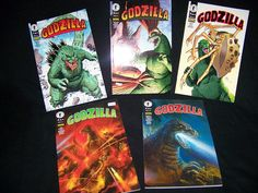 Lote de cómics GODZILLA 5 tomos tapa cartón varios autores Buen estado!!