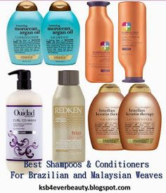 KSB4Ever Beauty Blog by Kay Sharice: Good Shampoos and Conditioners for Virgin Brazilian Hair Weave