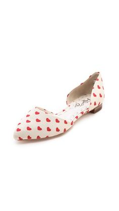 Heart flats -  just in time for Valentine's Day
