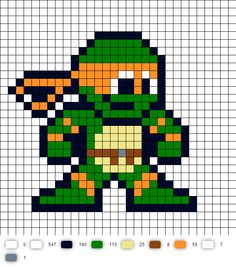 Cyberman upgrated perler bead pattern perler beads pinterest toon tmnt perler bead pattern pixel art templatesminecraft pronofoot35fo Image collections