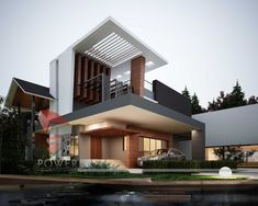 Amazing Modern Home Design That Can Inspire You. If you are looking for Modern Home Design That Can Inspire You, You come to the right place. Architecture Design Concept, Modern Architecture House, Modern Buildings, Modern Houses, Indian Architecture, Spanish Architecture, Building Architecture, Interior Architecture, Home Design