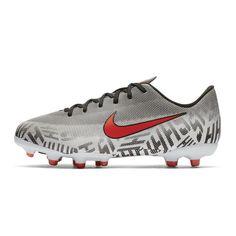 2b9dfe4821d9 Chaussures football Nike Mercurial Vapor XII Silencio Academy Neymar MG  Blanc/Noir Junior