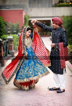 21 BLUE & GREEN PAKISTANI WEDDING OUTFITS {IRFAN AHSON PHOTOGRAPHY}