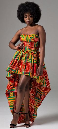 African clothing for women African dress Ankara dress by Laviye African Prom Dresses, Ankara Gowns, Ankara Dress, African Fashion Dresses, Nigerian Fashion, Dashiki Dress, Ankara Fashion, African Attire, African Wear