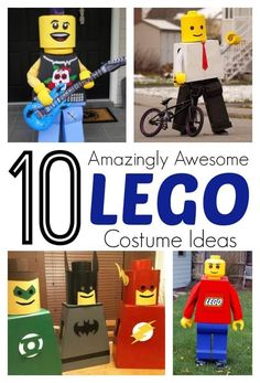 10 amazing and awesome DIY Lego costume ideas for kids. LOVE THESE for Halloween! Lego Halloween Costumes, Boy Costumes, Halloween Kostüm, Holidays Halloween, Halloween Cupcakes, Costume Ideas, Diy Lego Costume, Kids Costumes Boys, Halloween Outfits