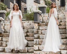 A kesim çiçekli ve dantelli gelinlik modelleri 2016-a kesim gelinlik modelleri 2016-nova bella gelinlik nişantaşı istanbul