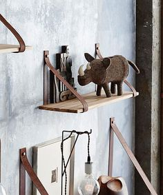 Leather Strap Shelf - 23""